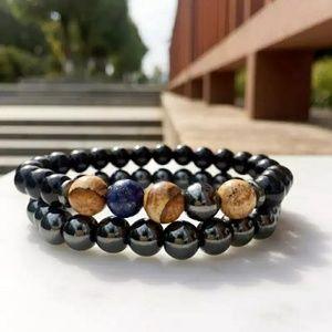 Other - Hematite Bead Stone Jewelry Charm Men Bracelet han
